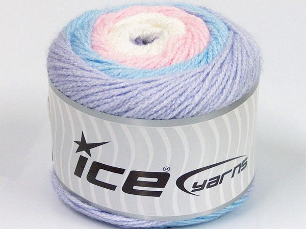 150g Cakes Baby White Pink Lilac Blue Ice Yarns Rose Lila Blau Strickwolle Ice Yarns - Hungariana Garn und Strickwolle Online Shop