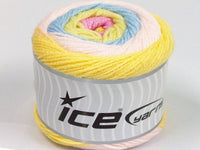150g Cakes Baby Yellow Powder Pink Light Green Light Blue Ice Yarns Hell Rose Gelb Grün Strickwolle Ice Yarns - Hungariana Garn und Strickwolle Online Shop