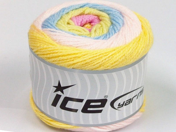 150g Cakes Baby Yellow Powder Pink Light Green Light Blue Ice Yarns Hell Rose Gelb Grün Strickwolle - Fest Keks Lebkuchen & Keks für jede Feier