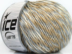 50g Cedric Alpaca White Grey Beige Ice Yarns Strickwolle Ice Yarns - Hungariana Garn und Strickwolle Online Shop