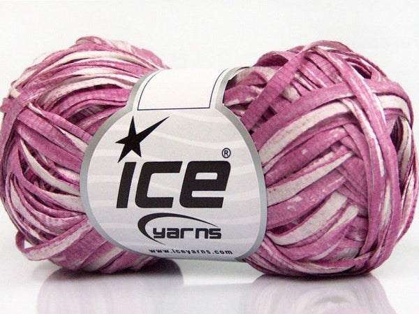 50g Cotton Tape Print White Orchid Ice Yarns Strickwolle Ice Yarns - Hungariana Garn und Strickwolle Online Shop