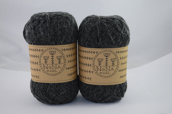 100g NoNA WooL Classic Alpaca Anthracite Strickwolle Ice Yarns - Hungariana Garn und Strickwolle Online Shop