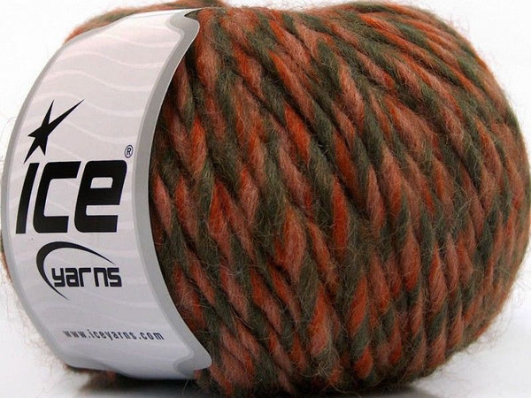 50g Etno Alpaca Salmon Orange Khaki Ice Yarns Strickwolle Ice Yarns - Hungariana Garn und Strickwolle Online Shop