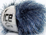 50g Eyelash Grey Blue Ice Yarns Strickwolle Ice Yarns - Hungariana Garn und Strickwolle Online Shop