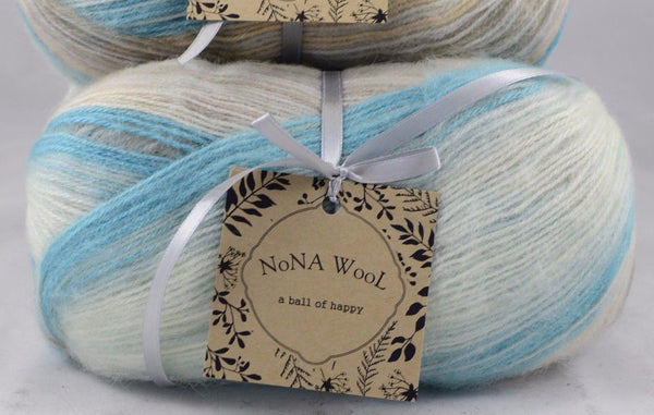 100g Farbverlaufsgarn NoNA WooL Angora Mohair Mountain Creek Strickwolle Ice Yarns - Hungariana Garn und Strickwolle Online Shop