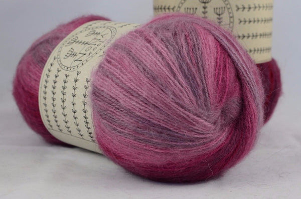 100g Farbverlaufsgarn NoNA WooL Angora Really Raspberry Strickwolle Ice Yarns - Hungariana Garn und Strickwolle Online Shop