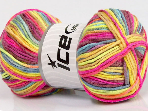 100g Farbverlaufsgarn Sale Summer Yellow Pink Maroon Blue Gelb Rose Blau Lila Ice Yarns Strickwolle Ice Yarns - Hungariana Garn und Strickwolle Online Shop