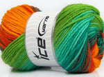 100g Favorite Magic Yellow Turquoise Orange Grey Green Ice Yarns Gelb Turkis Grau Grün Strickwolle Ice Yarns - Hungariana Garn und Strickwolle Online Shop