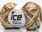 50g Fettuccia Cottonac Cream Brown Shades Ice Yarns Strickwolle Ice Yarns - Hungariana Garn und Strickwolle Online Shop