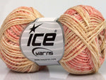 50g Fettuccia Cottonac Fine Yellow Pink Shades Camel Ice Yarns Gelb Rose Strickwolle Ice Yarns - Hungariana Garn und Strickwolle Online Shop
