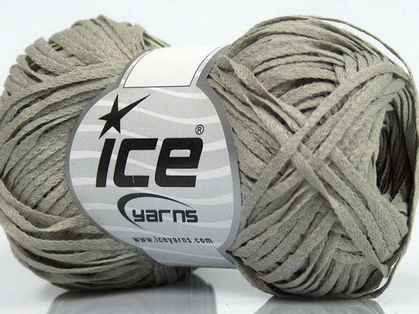50g Fettuccia Cottonac Grey Ice Yarns Grau Strickwolle Ice Yarns - Hungariana Garn und Strickwolle Online Shop