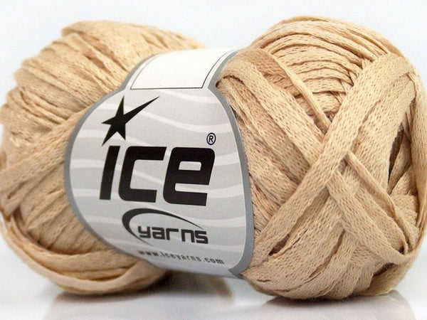 50g Fettuccia Lana Dark Cream Ice Yarns Dunkel Creme Strickwolle Ice Yarns - Hungariana Garn und Strickwolle Online Shop