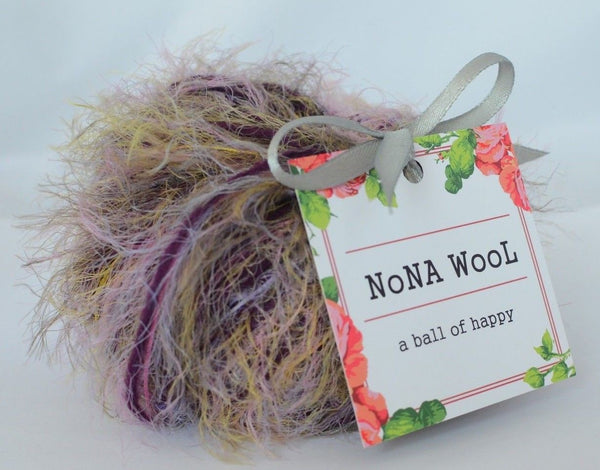 50g WOLLE zum Stricken Strickwolle NoNA WooL Cotton Blackberry Crumble