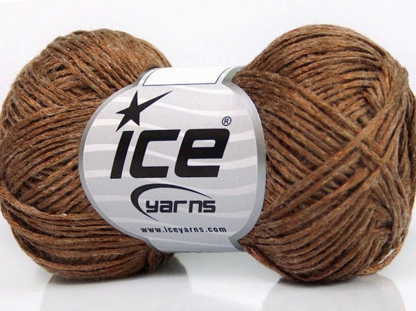 50g Fred Linen Copper Ice Yarns Kupfer Strickwolle Ice Yarns - Hungariana Garn und Strickwolle Online Shop