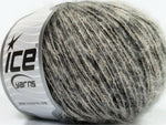 50g Honey Kid Mohair Black Beige Ice Yarns Schwarz Strickwolle Ice Yarns - Hungariana Garn und Strickwolle Online Shop