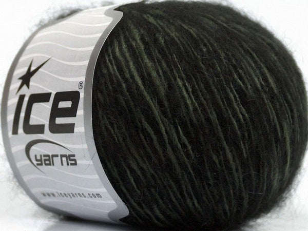 50g Honey Kid Mohair Khaki Black Schwarz Ice Yarns Strickwolle Ice Yarns - Hungariana Garn und Strickwolle Online Shop