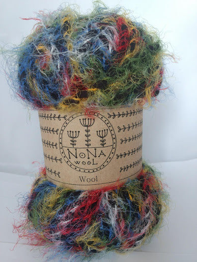 115g NoNA WooL Soft Eyelash Rainbow Strickwolle Ice Yarns - Hungariana Garn und Strickwolle Online Shop