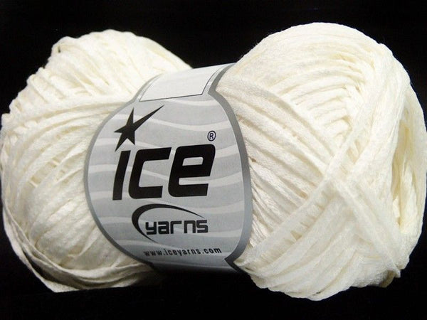 50g Ice Yarns Fettuccia Cottonac White Weiss Strickwolle Ice Yarns - Hungariana Garn und Strickwolle Online Shop