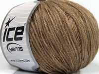 50g Kid Mohair Chain Light Brown Melange Ice Yarns Strickwolle Ice Yarns - Hungariana Garn und Strickwolle Online Shop