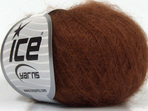 25g Kid Mohair Classic Brown Ice Yarns braun Strickwolle Ice Yarns - Hungariana Garn und Strickwolle Online Shop