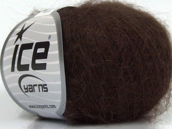 25g Kid Mohair Classic Dark Brown Ice Yarns Braun Strickwolle Ice Yarns - Hungariana Garn und Strickwolle Online Shop