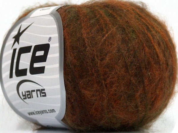 6x25g Kid Mohair Classic Orange Green Brown Ice Yarns Braun Grün Strickwollepaket - Fest Keks Lebkuchen & Keks für jede Feier