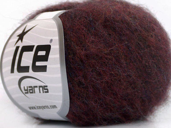 30g Kid Mohair Fine Burgundy Melange Ice Yarns Strickwolle Ice Yarns - Hungariana Garn und Strickwolle Online Shop