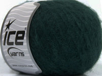 30g Kid Mohair Fine Dark Green Ice Yarns Dunkel Grün Strickwolle Ice Yarns - Hungariana Garn und Strickwolle Online Shop