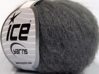 30g Kid Mohair Fine Dark Grey Ice Yarns Strickwolle Ice Yarns - Hungariana Garn und Strickwolle Online Shop