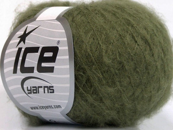 30g Kid Mohair Fine Khaki Ice Yarns Strickwolle Ice Yarns - Hungariana Garn und Strickwolle Online Shop