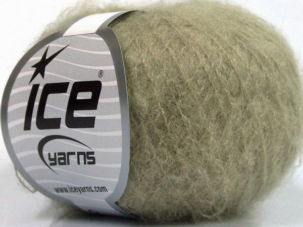 30g Kid Mohair Fine Light Khaki Ice Yarns Strickwolle Ice Yarns - Hungariana Garn und Strickwolle Online Shop