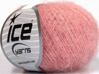 30g Kid Mohair Fine Light Pink Ice Yarns Hell Rose Strickwolle Ice Yarns - Hungariana Garn und Strickwolle Online Shop