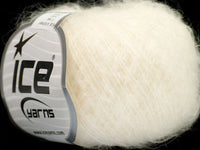 30g Kid Mohair Fine White Ice Yarns Weiss Strickwolle Ice Yarns - Hungariana Garn und Strickwolle Online Shop
