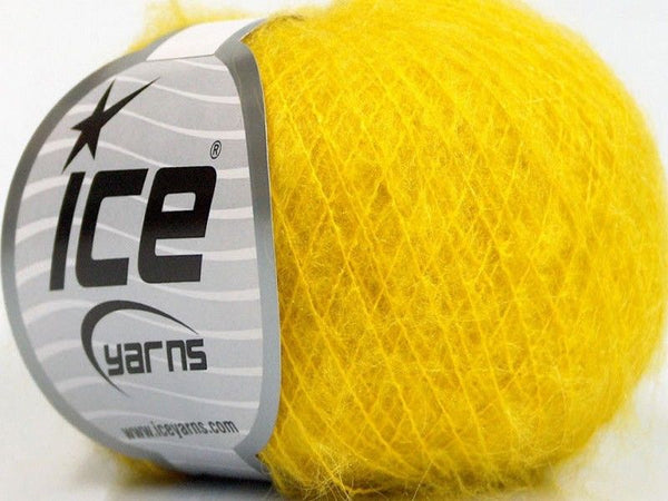 30g Kid Mohair Fine Yellow Ice Yarns Gelb Strickwolle Ice Yarns - Hungariana Garn und Strickwolle Online Shop