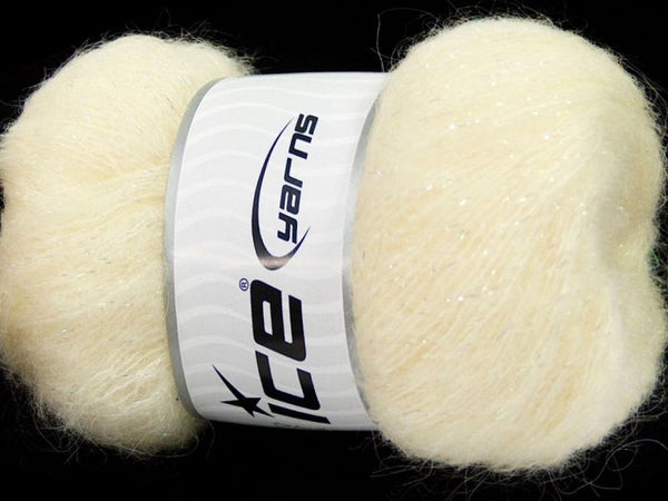 50g Kid Mohair Pearl Cream Ice Yarns Perle Strickwolle Ice Yarns - Hungariana Garn und Strickwolle Online Shop