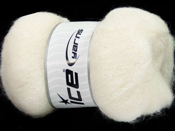50g Kid Mohair Pearl White Ice Yarns Weiss Strickwolle Ice Yarns - Hungariana Garn und Strickwolle Online Shop
