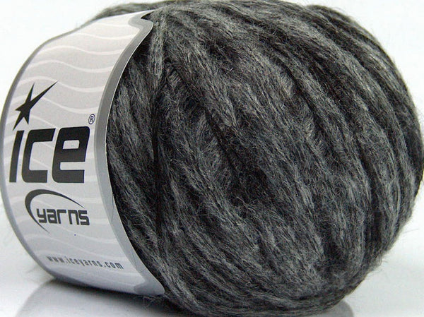 50g Sale Luxury-Premium Grey Black Ice Yarns Schwarz Grau Strickwolle Ice Yarns - Hungariana Garn und Strickwolle Online Shop