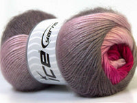 100g Madonna Pink Shades Grey Ice Yarns Strickwolle Ice Yarns - Hungariana Garn und Strickwolle Online Shop