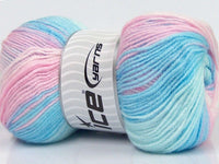 100g Magic DK Pink Shades Blue Shades Ice Yarns Strickwolle - Fest Keks Lebkuchen & Keks für jede Feier