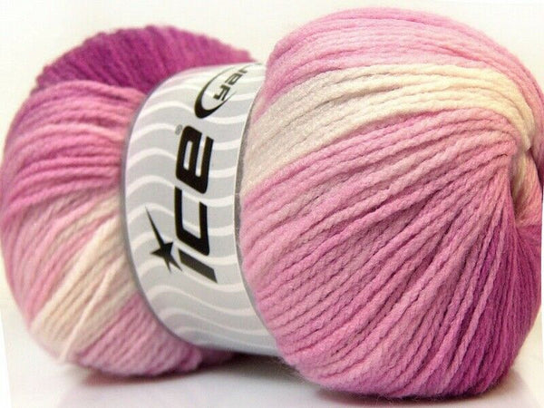100g Magic Light White Pink Fuchsia Ice Yarns Strickwolle Ice Yarns - Hungariana Garn und Strickwolle Online Shop