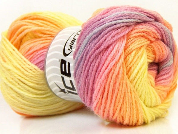 100g Magic Light Yellow Pink Orchid Orange Ice Yarns Gelb Rose Strickwolle Ice Yarns - Hungariana Garn und Strickwolle Online Shop