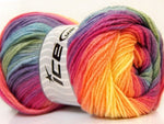 100g Magic Light Yellow Purple Pink Green Blue Ice Yarns Hell Gelb Purpe Rose Grün Strickwolle - Fest Keks Lebkuchen & Keks für jede Feier