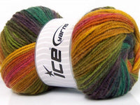 100g Magic Light Yellow Purple Shades Pink Green Shades Strickwolle Ice Yarns - Hungariana Garn und Strickwolle Online Shop