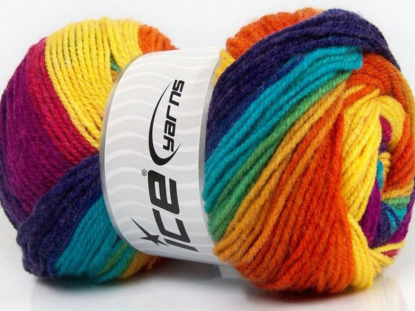 100g Magic Light Yellow Turquoise Purple Orange Fuchsia Ice Yarns Strickwolle Ice Yarns - Hungariana Garn und Strickwolle Online Shop