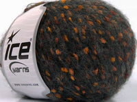 50g Merino Extrafine Pompom Orange Dark Grey Copper Ice Yarns Strickwolle Ice Yarns - Hungariana Garn und Strickwolle Online Shop
