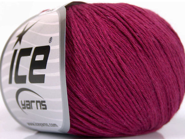 50g Natural Cotton Baby Dark Fuchsia Ice Yarns Strickwolle Ice Yarns - Hungariana Garn und Strickwolle Online Shop