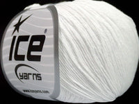 50g Natural Cotton Baby White Ice Yarns Weiss Baumwolle Strickwolle Ice Yarns - Hungariana Garn und Strickwolle Online Shop