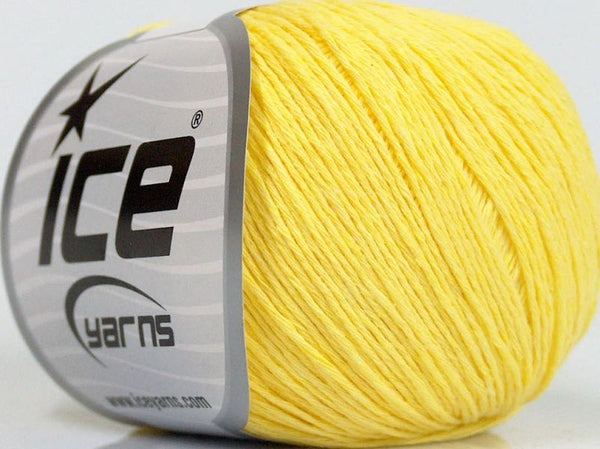 Natural Cotton Baby Yellow Ice Yarns 47515