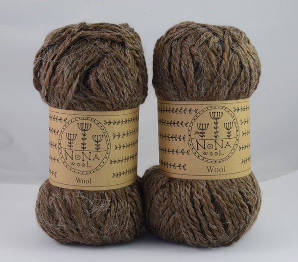 100g NoNA WooL Alpaca Classic Brown Strickwolle Ice Yarns - Hungariana Garn und Strickwolle Online Shop