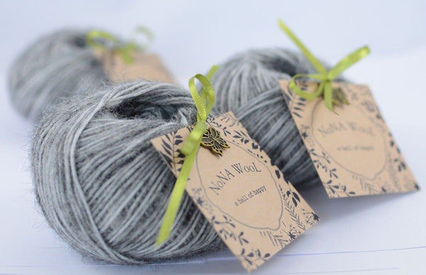 30g NoNA WooL Alpaca Gray / Grau 35% Alpaca Superfine Strickwolle Ice Yarns - Hungariana Garn und Strickwolle Online Shop